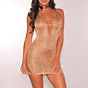 preiswerte Herren Turnschuhe-Damen Strand Klub Street Schick Bodycon Kleid - Stilvoll Loch, Solide Schlank Sexy Mini U-Ausschnitt Hohe Hüfthöhe