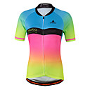 cheap Cycling Jersey & Shorts / Pants Sets-Miloto Women's Short Sleeve Cycling Jersey - Luminous Gradient Bike Jersey Top, Fast Dry Stretchy Sweat-Wicking, Spring &  Fall Summer, Spandex Coolmax®