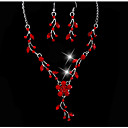 baratos Sandálias Femininas-Mulheres Conjunto de jóias - Flor Original Incluir Amarelo / Vermelho / Azul Para Casamento Festa Ocasião Especial / Aniversário