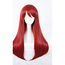 cheap Synthetic Capless Wigs-Synthetic Wig Synthetic Hair Red Wig Women's Medium Length Capless