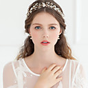 cheap Party Headpieces-Crystal / Imitation Pearl / Rhinestone Tiaras / Headbands / Flowers with 1 Wedding / Special Occasion / Anniversary Headpiece