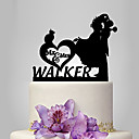 cheap Cake Toppers-Cake Topper Classic Theme / Romance / Wedding Classic Couple Plastic Wedding / Anniversary with 1 pcs Poly Bag