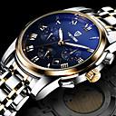 preiswerte Mechanische Uhren-Herrn Armbanduhr Wasserdicht Kalender Kreativ Edelstahl Band Analog Charme Luxus Freizeit Weiß / Gold - Weiß Schwarz Blau