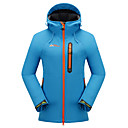 cheap Softshell, Fleece & Hiking Jackets-Cikrilan Women's Hiking Softshell Jacket Hiking Jacket Outdoor Winter Waterproof Thermal / Warm Windproof Breathable Jacket Top Fleece Softshell Camping / Hiking Hunting Fishing Sky Blue / Green