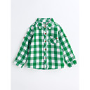 cheap Boys' Jackets & Coats-Boys' Houndstooth Shirt, Cotton Spring Fall Long Sleeves Green