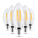 cheap LED Candle Lights-YWXLIGHT® 5pcs 4 W 300-400 lm E14 LED Candle Lights C35 4 LED Beads COB Dimmable / Decorative Warm White / Cold White 220-240 V / 5 pcs