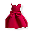 cheap Girls' Dresses-Girl's Solid Colored Bowknot Fashion Dress