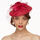 cheap Rings-Flax Fascinators / Hats / Headwear with Floral 1pc Wedding / Special Occasion Headpiece