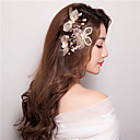 cheap Christmas Party Supplies-Imitation Pearl Hair Clip / Hair Stick with 1 Wedding / Special Occasion / Birthday Headpiece