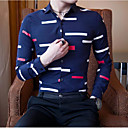 cheap Accessories For GoPro-Men's Cotton Shirt - Geometric Classic Collar / Long Sleeve