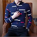 cheap Models & Model Kits-Men's Cotton Shirt - Geometric Classic Collar / Long Sleeve