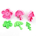 cheap Corkscrews & Openers-2017 New Arrival Set of 3 Rural Symbols Cake Molds Umbrella Flower Girl Cookie/Biscuit Cutter for Fondant Cake Decorating