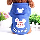 cheap Dog Clothes-Dog Hoodie Dog Clothes Cartoon Cotton Costume For Pets Casual/Daily