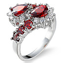 cheap Rings-Women's Cubic Zirconia Ring Settings / Band Ring / Ring - Zircon Princess Personalized, Luxury, Geometric 6 / 7 / 8 Red For Christmas / Christmas Gifts / Wedding / Party / Special Occasion / Birthday