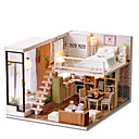 cheap Doll Houses-CUTE ROOM Model Building Kit DIY Famous buildings House Plastics Classic Pieces Unisex Gift