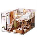 baratos Casas de Boneca-CUTE ROOM Brinquedos de Montar Faça Você Mesmo Construções Famosas Casa Plásticos Clássico Peças Unisexo Dom