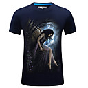 cheap Party Headpieces-Men's Plus Size Cotton Slim T-shirt - 3D Print Round Neck / Short Sleeve