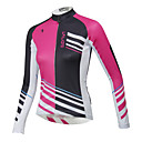 cheap Anime Cosplay Wigs-ILPALADINO Women's Long Sleeve Cycling Jersey Character Plus Size Bike Top, Waterproof Breathable Quick Dry, Winter, Terylene / Waterproof Zipper / Anatomic Design / Stretchy / Anatomic Design