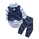 cheap Baby Boys' Clothing Sets-Boys' Geometric Clothing Set, Cotton Spring Fall Long Sleeves Dresswear Blue