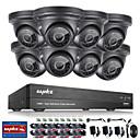 cheap DVR Kits-SANNCE® 8CH CCTV Security System Onvif 1080P AHD/TVI/CVI/CVBS/IP 5-in-1 DVR with 8*2.0MP Waterproof Cameras No HDD