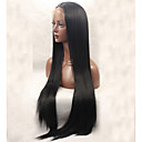 cheap Synthetic Capless Wigs-Synthetic Lace Front Wig Straight Synthetic Hair Black Wig Women's Long Lace Front