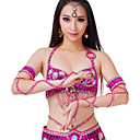 cheap Dance Accessories-Belly Dance Jewelry Women's Performance Polyester Sequin Bracelets