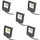 cheap LED Flood Lights-5pcs 10W LED Floodlight Waterproof Decorative Outdoor Lighting Warm White Cold White 12-80V