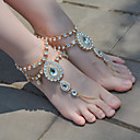 cheap Bracelets-Barefoot Sandals - Drop Fashion, Yoga Gold / Silver For Dailywear / Daily / Outdoor clothing / Women's / Rhinestone