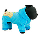 cheap Dog Clothes-Dog Hoodie Dog Clothes Cartoon Fuchsia / Blue Plush Fabric Costume For Pets Casual / Daily