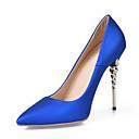 baratos Botas Femininas-Mulheres Sapatos Courino Primavera Plataforma Básica / Sapatos formais Saltos Salto Agulha Dedo Apontado Roxo Claro / Verde / Azul