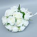 """olcso Esküvői virágok-Esküvői virágok Csokrok Esküvő Tüll / Poliészter 9,84"""" (Kb. 25 cm)"""