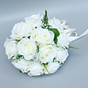 "baratos Bouquets de Noiva-Bouquets de Noiva Buquês Casamento Tule / Poliéster 9.84""(Aprox.25cm)"