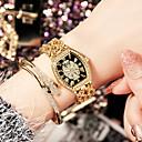 preiswerte Modische Uhren-Damen Armbanduhr Wasserdicht Kreativ Imitation Diamant Edelstahl Band Analog Charme Luxus Glanz Silber / Gold / Rotgold - Schwarz und Gold Schwarz / Silber Schwarz / Rotgold