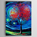 cheap Abstract Paintings-Oil Painting Hand Painted - Landscape Abstract Canvas