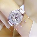 preiswerte Parykopfbedeckungen-Damen Armband-Uhr / Armbanduhr Chinesisch Wasserdicht / Kreativ Edelstahl Band Charme / Luxus / Freizeit Weiß / Ein Jahr / Xingguang 377