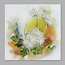 cheap Floral/Botanical Paintings-Oil Painting Hand Painted - Floral / Botanical Abstract Modern / Contemporary Canvas