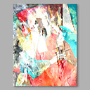 cheap Abstract Paintings-Oil Painting Hand Painted - Abstract Abstract Modern / Contemporary Canvas