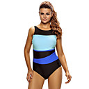 cheap Wetsuits, Diving Suits & Rash Guard Shirts-Women's One Piece Swimsuit Chlorine resistance, Lightweight Materials, Reduces Chafing Tactel Swimwear Beach Wear Bodysuit Patchwork Swimming / Diving / Surfing
