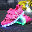 cheap 3D Puzzles-Girls' Shoes Breathable Mesh / Microfibre Spring Comfort / Novelty / Light Up Shoes Sneakers Track & Field Shoes LED for White / Fuchsia