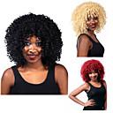 billige Syntetiske parykker med blonde-Syntetiske parykker Krøllet / Afro Syntetisk hår Rød / Svart / Blond Parykk Dame Kort Lokkløs