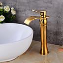 olcso Sprinkle® csaptelepek-Lightinthrbox Sprinkle® fürdőszobai csapok - Kortárs Aranyozott Vízesés Egy furat