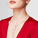 cheap Men's Necklaces-Women's Lariat Chain Necklace / Y Necklace - Sterling Silver, Silver Ball Personalized, Fashion, Long Silver Necklace Jewelry For Party, Gift, Daily