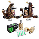 cheap Men's Accessories-Coil Tattoo Machine Liner and Shader with 6-9 V Copper Professional / High quality, formaldehyde free