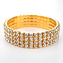 cheap Bracelets-Women's Hollow Tennis Bracelet / Wide Bangle - Rhinestone Fashion Bracelet Gold / Silver For Christmas Gifts / Birthday / Gift