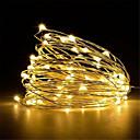 cheap LED String Lights-5m String Lights 50 LEDs Warm White / White / Red <5 V