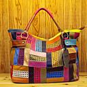 preiswerte Umhängetaschen-Damen Taschen Leder Tragetasche Kombination Regenbogen