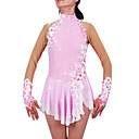 cheap Baby Girls' Clothing Sets-Figure Skating Dress Women's / Girls' Ice Skating Dress Pale Pink Spandex Rhinestone / Appliques High Elasticity Performance Skating Wear
