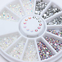 cheap Nail Stamping-1 pcs Rhinestones / Nail Jewelry Nail Art Design Sparkle & Shine / Mixed Color / Jelly