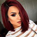 cheap Women's Heels-Synthetic Wig Straight Style Bob Capless Wig Red Red Synthetic Hair Women's Red Wig Short Natural Wigs