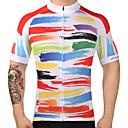 tanie Stroje rowerowe-FUALRNY® Męskie Krótki rękaw Koszulka rowerowa Rower Dżersej Top, Szybkie wysychanie 100% poliester / Wysoka elastyczność